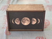 Load image into Gallery viewer, Moon Phases Full Color Tarot Card/Stash Box