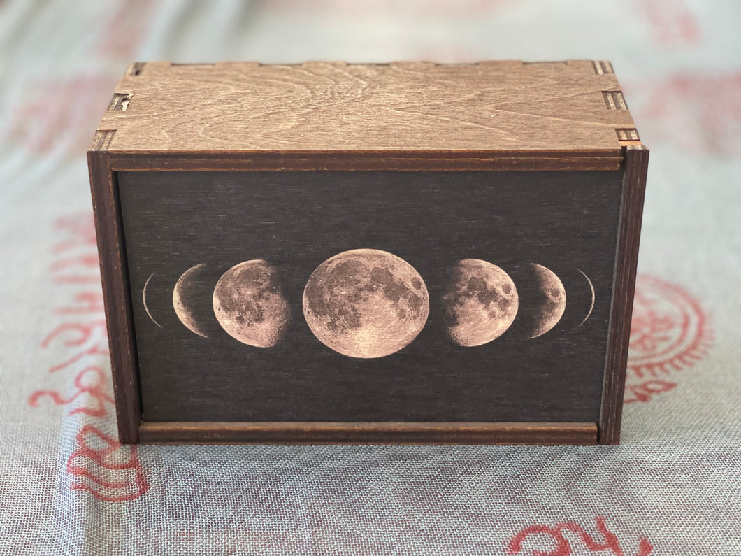 Moon Phases Full Color Tarot Card/Stash Box