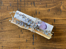 Load image into Gallery viewer, Amethyst Pendant with Palo Santo, Selenite and Lavender