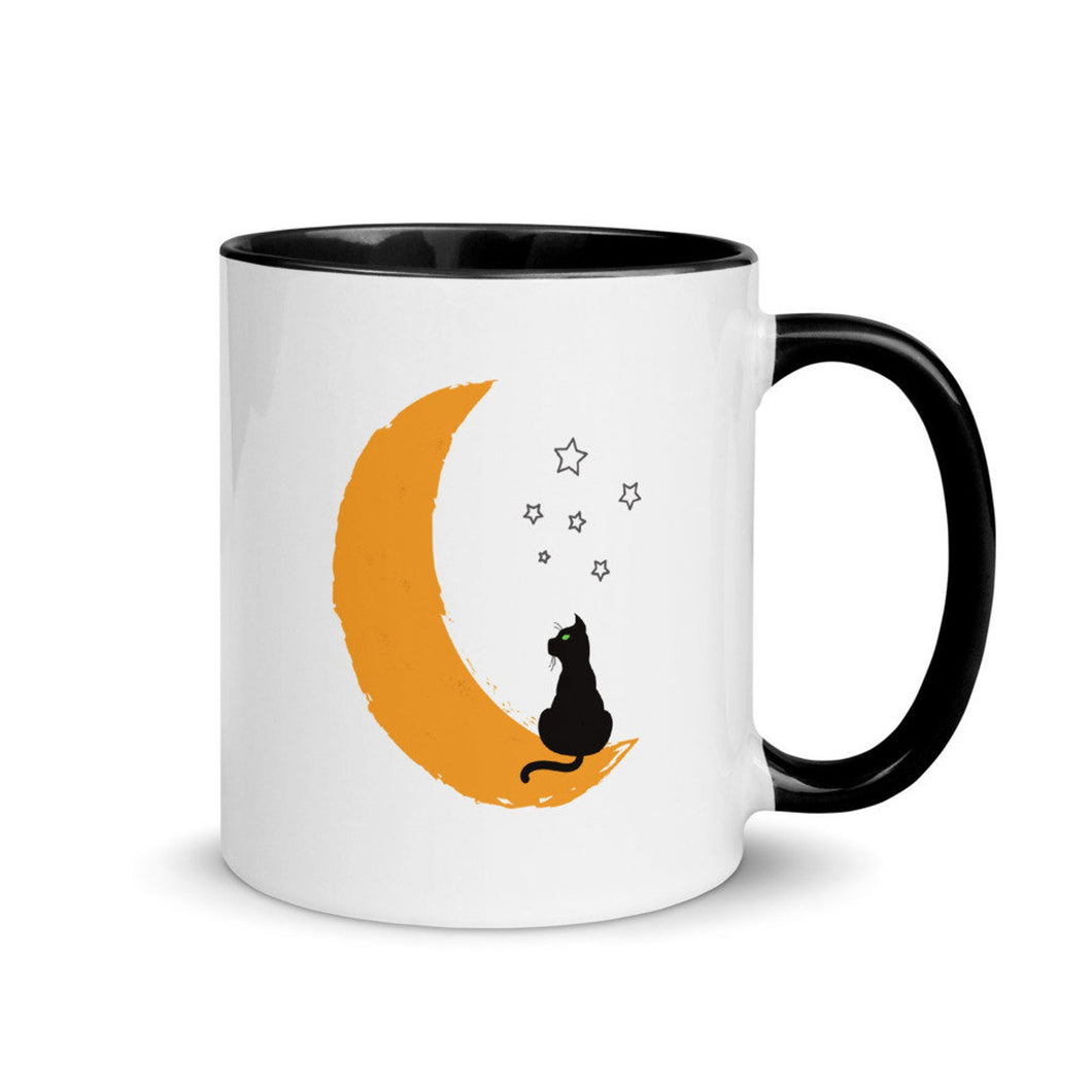 Cat Sitting on the Moon Mug