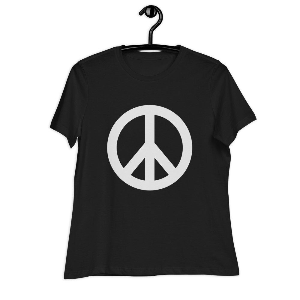 Peace Sign Women's Relaxed T-Shirt