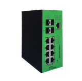 DYMEC KY-1010EMD - 12 Port, 10 Gigabit, Managed, Class 1 Division 2 Hazardous Area, Power over Ethernet +,  Industrial Ethernet Switch. SCADA - IP 40, IEEE1588v2, with DHCP Server, Din-Rail or Shelf Mount - DYMECDIRECT