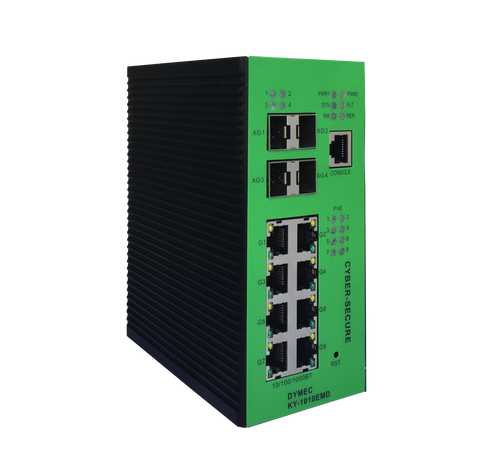 DYMEC KY-1010EMD - 12 Port, 10 Gigabit, Managed, Class 1