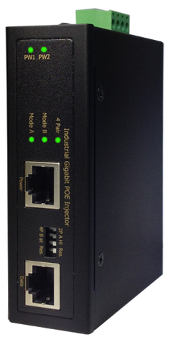 DYMEC DY-HI8011-95W, 2 Port, Gigabit, PoE++(60 & 95 Watt), Industrial Ethernet Media Converter, 1 x 10/100/1000Base(T)X PSE & 1 x 10/100/1000Base(T)X , Rugged, Temperature Hardened, Military Grade, Class 1 Div 2 - DYMECDIRECT