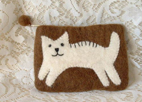 Leaping Cat Change Purse - The Good Cat Company