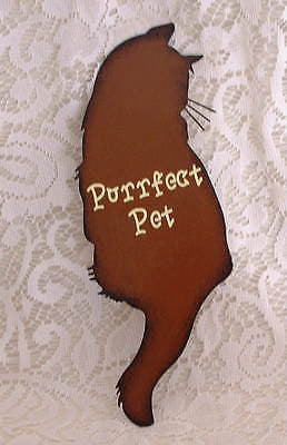 Country Purrfect Pet Cat Metal Sign - The Good Cat Company