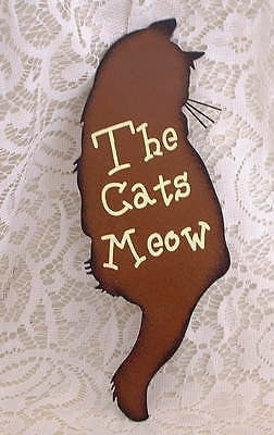 Country Kitten The Cats Meow Cat Metal Sign - The Good Cat Company