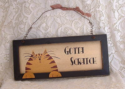 Country Orange Tabby Cat Gotta Scratch Kitten Cat Wood Sign - The Good Cat Company