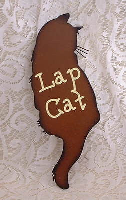 Country Lap Cat Metal Sign - The Good Cat Company