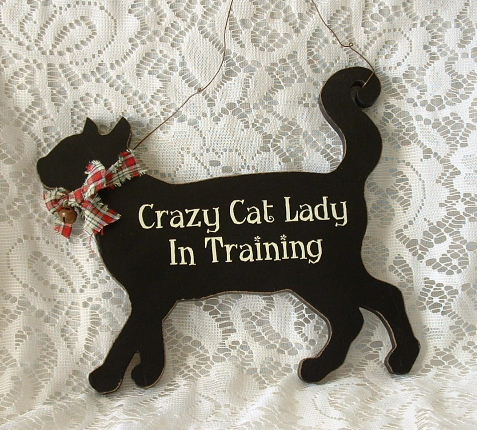 Black Cat Crazy Cat Lady In Training Sign