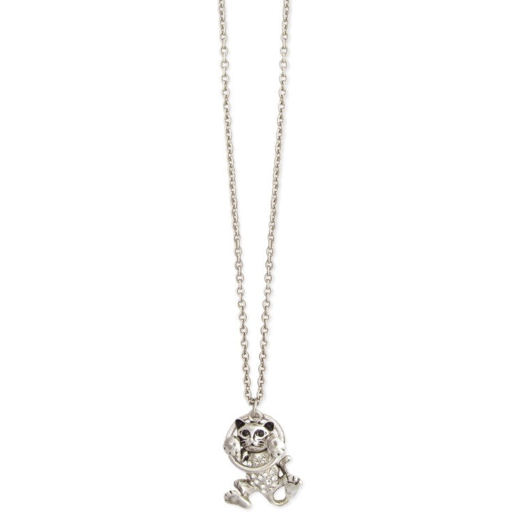 Silver Hang in There Cat Necklace - The Good Cat Company