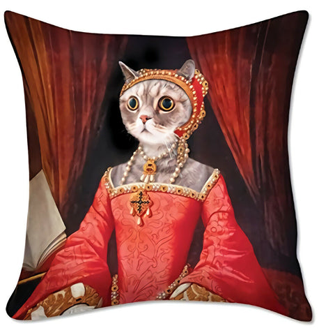 Renaissance Cat Pillow Cover