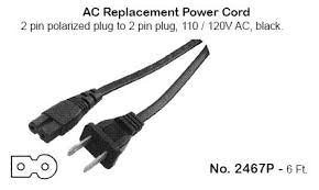 Philmore 2467P AC Power Cord for Cassette Recorders