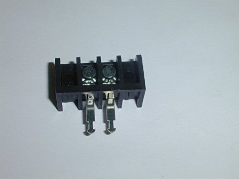 3STR-02-004 CONNECTOR BARRIER STRIP 2 POSITION 6.35mm SCREW RIGHT ANGLE CABLE MOUNT 10 AMP CONTACTS ( 4 PIECES)
