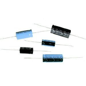 47uf 50V, 85deg C, Axial Lead Electrolytic Capacitors 12.5 x 30mm (6 pieces)