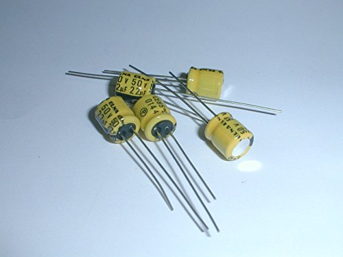 RC2-50V220MB Miniature Electrolytic Capacitors 22uf 50V, Radial Lead, 85deg C, 6.3 x 7mm (5 pieces)
