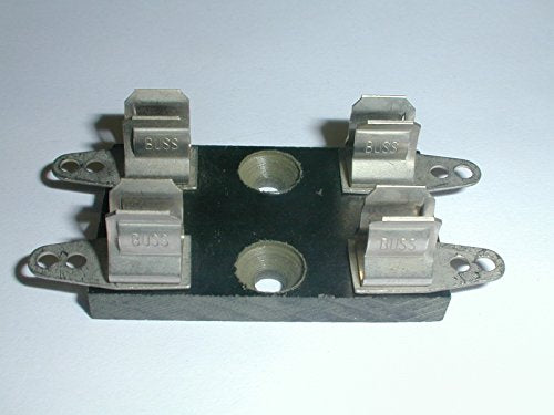 Bussmann 4408 Fuse Block 2 Pole for 1/4 x 1-1/4 Fuses with Solder Terminals on a Phenolic Base (1 piece)