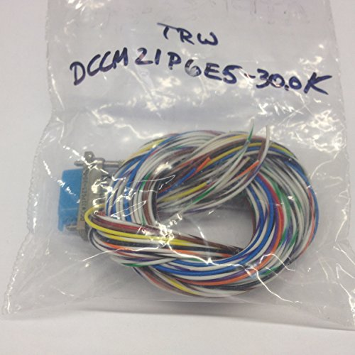 DCCM21P6E5-30.0K Micro D-Sub Cable Assembly 21 Pin Male Connector with 30.0in Wire Leads (1 piece)