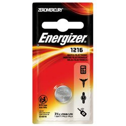 Energizer R Lithium Watch/ Electronic Battery #1216 3-Volt-2Pack