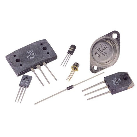 NTE Electronics NTE199 NPN Silicon Transistor, Low Noise, High Gain Amplifier, TO92 Type Package, 70V, 0.1 Amp