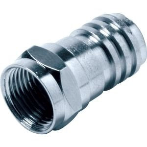 "HOLLAND ELECTRONICS F59-290G F CONNECTOR RG59 ATTACHED 1/2"" RING 10 PER PACK"