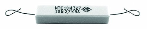 NTE Electronics 10W210 Resistor, Wire Wound, Axial Leaded, 5% Tolerance, 1K Ohm Resistance, 10W, 550V (Pack of 2)