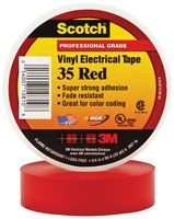 "3M 35 RED (3/4""X66FT) TAPE, INSULATION, PVC, RED, 0.75INX66FT (1 piece)"