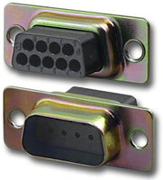 Pan Pacific DH-09HP/T-RL Db9 Male D-Sub Crimp Type Connector Zinc Housing Only (Price Per 10/Pkg)