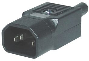 QUALTEK ELECTRONICS 712-00/00 CONNECTOR, POWER ENTRY, PLUG, 10A