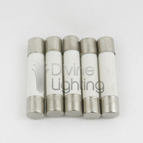 5 Qty. Divine Lighting ABC 5A Fast-Blow Ceramic Fuse 5 Amp 250v ABC5A; ABC5 ABC 5A Fast-Blow Fuse (also 3AB). Ceramic 1/4 in x 1.25 in
