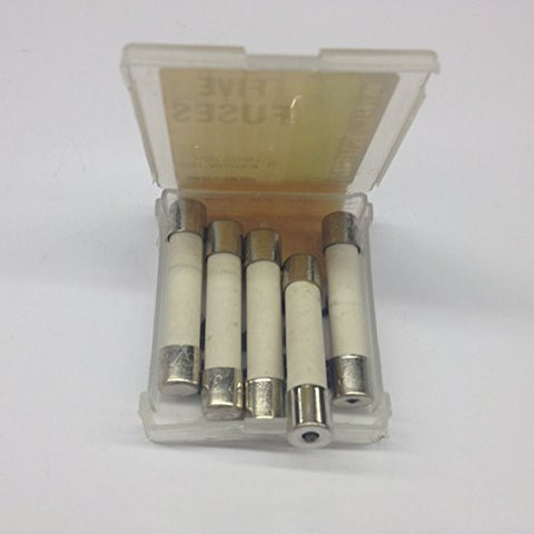 334002 Ceramic Cartidge Fuses Blown Fuse Pin Indicating 3AB 1/4 x 1-1/4 Size, 250V 2A Normal Blow (5 pieces),