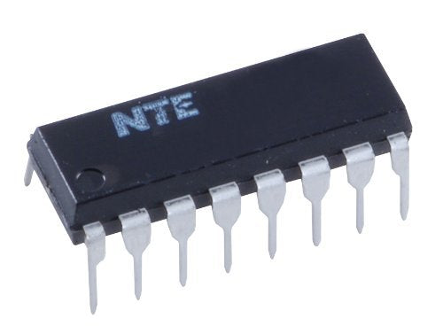 NTE Electronics NTE4026B Integrated Circuit CMOS Decade Counter/Divider, -0.5V-20V, 16-Lead DIP Package