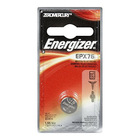EVEREADY BATTERY Watch/Electronic Battery, SilvOx, EPX76, 1.5V, MercFree (EPX76BPZ)