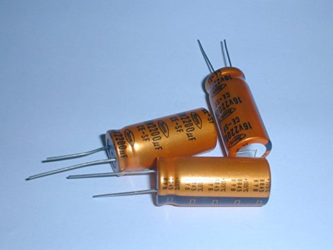 2200uf 16V Radial Lead Electrolytic Capacitors 105degC 16x37mm (3 pieces)