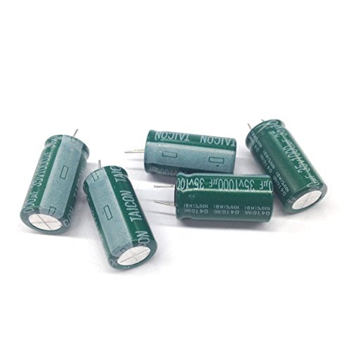 RE35V1000M Electrolytic Capacitors 1000uf 35V 105C with Short Radial Leads (5 pieces)