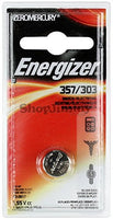 EVEREADY BATTERY Watch/Electronic Battery, SilvOx, 357, 1.5V, MercFree (357BPZ)