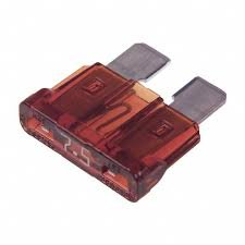 25707.5 Automotive Blade Fuse 7.5A 32V Brown (5 pieces)