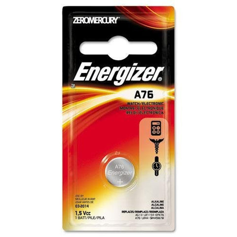 Energizer A76BPZ Watch/Electronic Battery, Alkaline, A76, 1.5V, MercFree