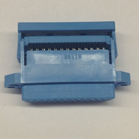 609-25S 25 Pin Female D-Sub Connector with IDC Ribbon Cable Termination with Strain Relief (1 piece)