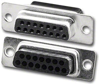 Pan Pacific DH-15HS/T-RL Db15 Female D-Sub Standard Density Crimp Type Connector Zinc Housing Only (Price Per 10/Pkg)