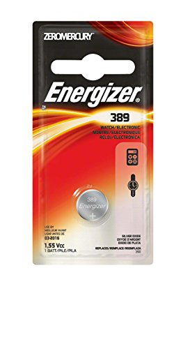 EVEREADY BATTERY Watch/Electronic Battery, SilvOx, 389, 1.5V, MercFree (389BPZ)