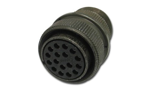 Amphenol Industrial MS3106A12S-3P Circular Connector Pin, General Duty, Non-Environmental, Threaded Coupling, Solder Termination, Straight Plug, 12S-3 Insert Arrangement, 12S Shell Size, 2 Contacts