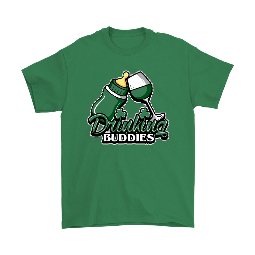drinking buddies - glass. (adult tee)