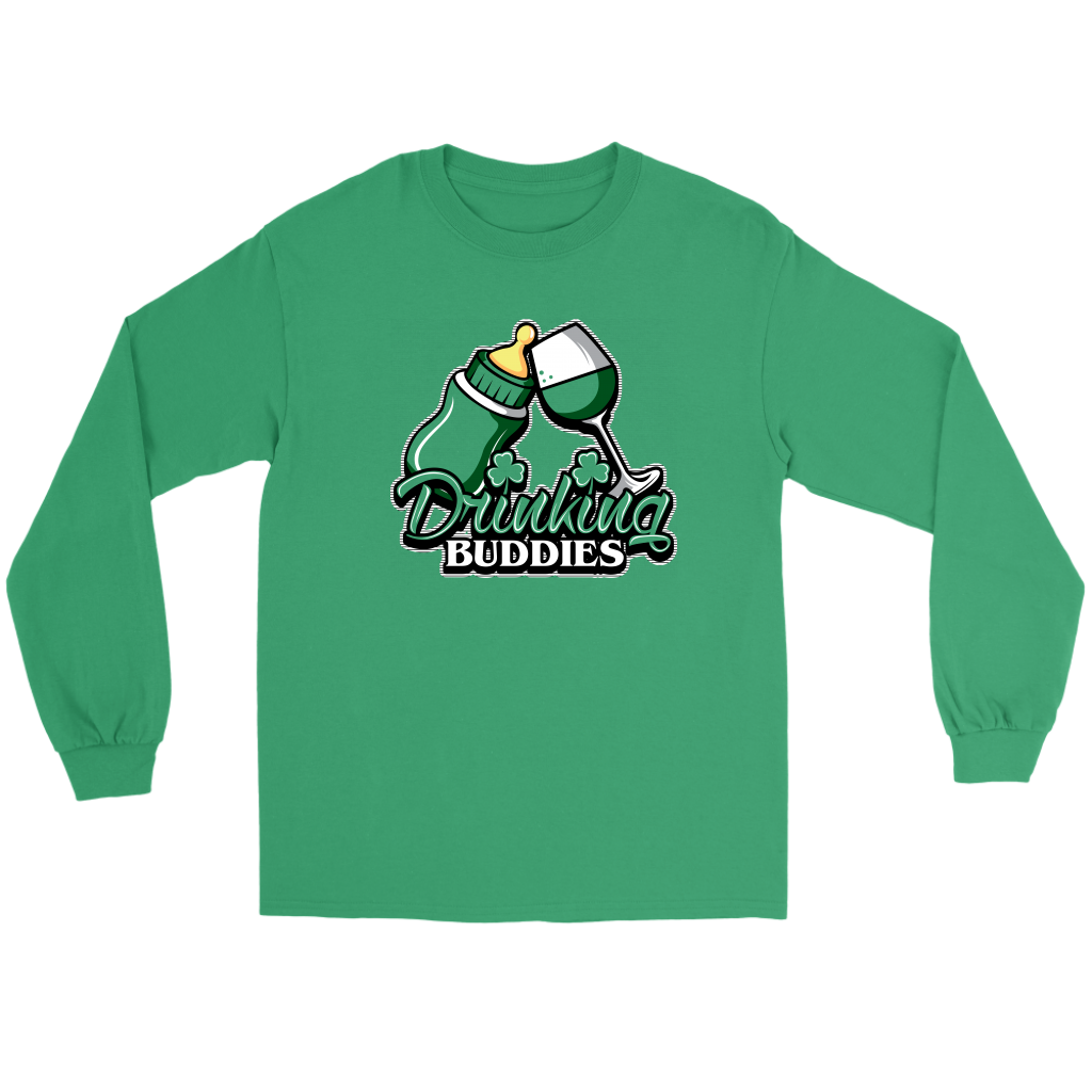 drinking buddies - glass. (long sleeve tee)