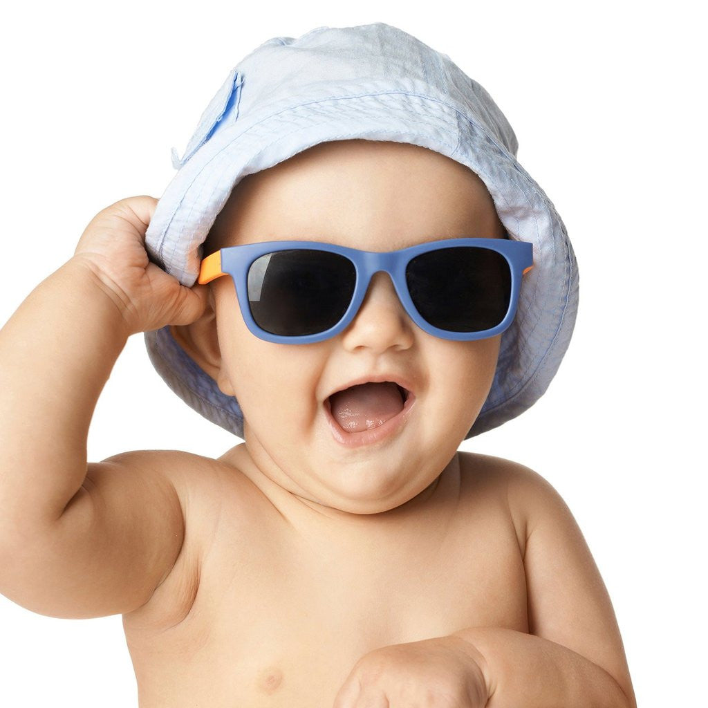 J unior Babiators sunglasses fit most babies 6 months to 2 years. Babiators are made of a soft material that is comfortable and lightweight. Babiators are made .