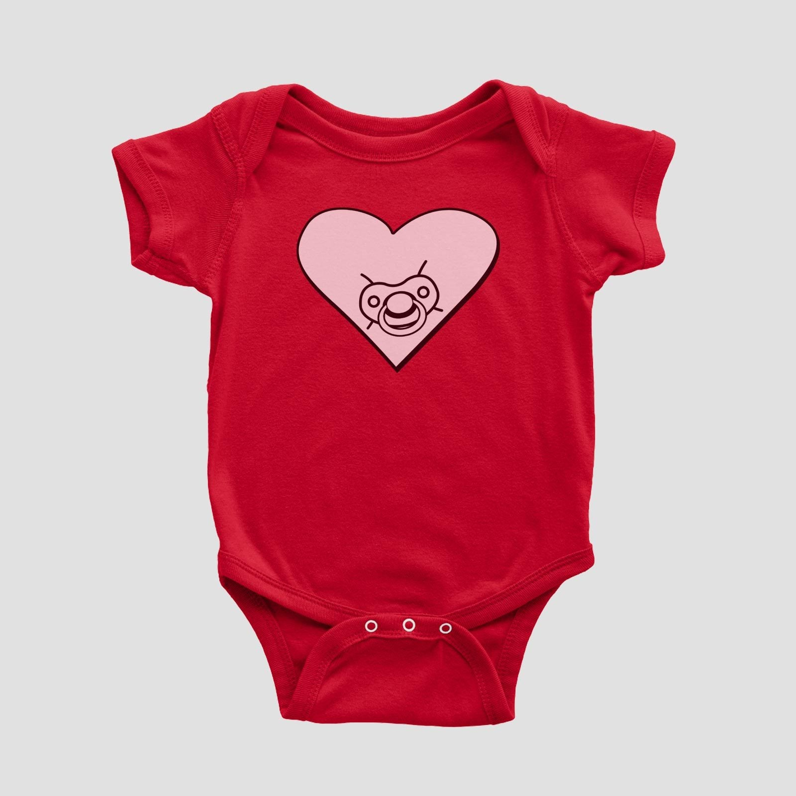 heart family pacifier. (baby)