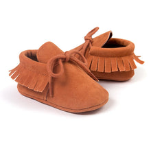 laced baby moccs.