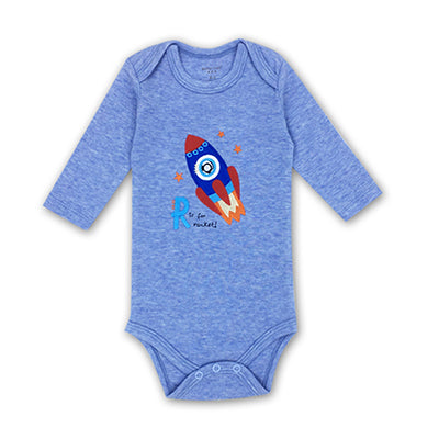 rocket long-sleeve onesie