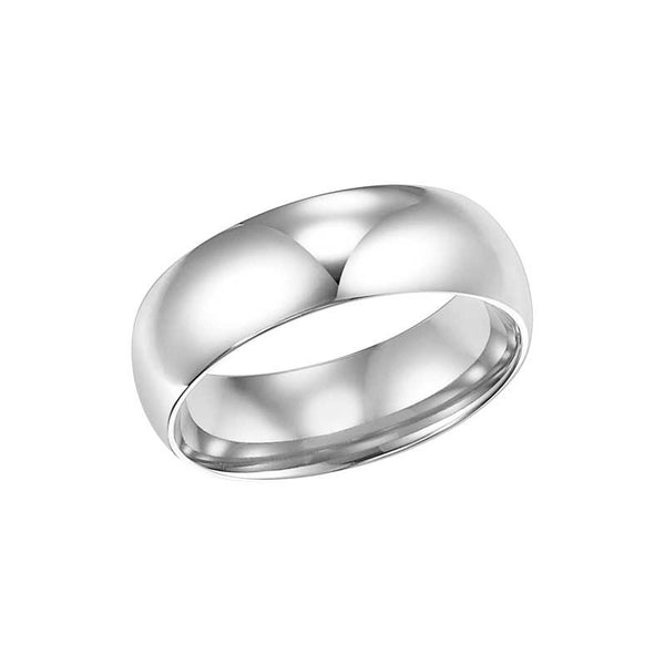 Polished Low Round Profile Comfort Fit Wedding Band