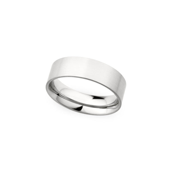 7mm Flat Brushed Finish Wedding Band